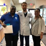 Happy scleral lens keratoconus patient, jose at broward eye care with Dr. Bascome